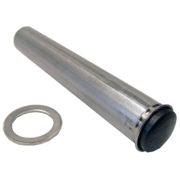 Hjulaxel 20 och 25 mm med bricka