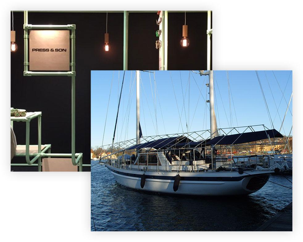 Inredning och båttäckning