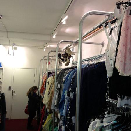 Klädställning i butik