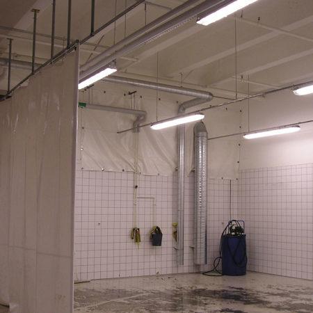 PVC presenning draperi