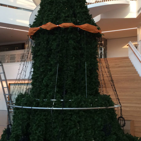 Rörkonstruktion julgran